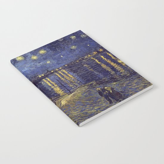 Vincent Van Gogh Starry Night Over The Rhone Notebook