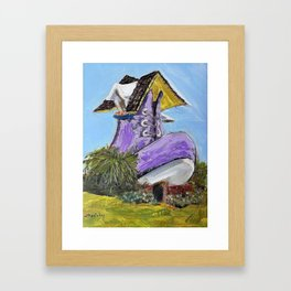 old woman's shoe house Framed Art Print