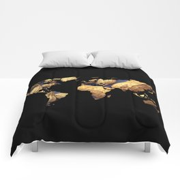 World Map Silhouette - Peanuts Comforters