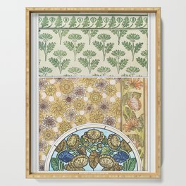 Chrysantheme (chrysanthemum) from La Plante et ses Applications ornementales (1896) illustrated by M Serving Tray