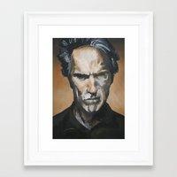 clint barton Framed Art Prints featuring Clint by Niall Drew