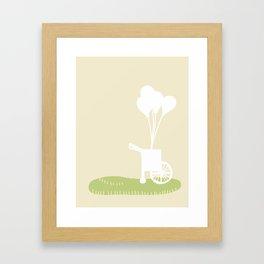 Balloon Cart Framed Art Print