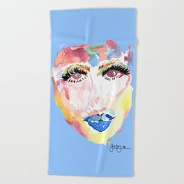 Watercolor Girl Beach Towel