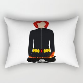 A One Woman Castrophe Rectangular Pillow