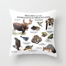 Animals of the Adirondacks Throw Pillow