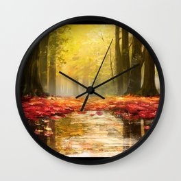 Cozy Forest Wall Clock