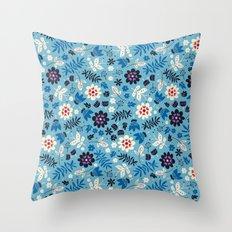 Fresh Blossoms Throw Pillow