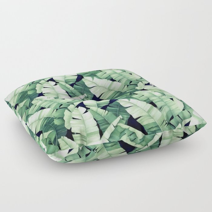 Banana leaves III Floor Pillow