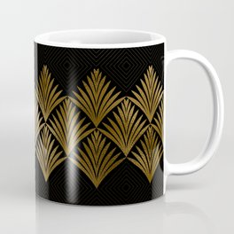 Reims, France: Luxueux Black and Gold Art Deco Coffee Mug