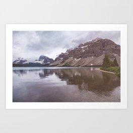 Bow Lake Overcast Art Print