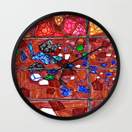 Gem Excavation Wall Clock