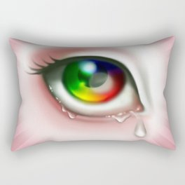Rainbow Eye - Cry for Me Rectangular Pillow
