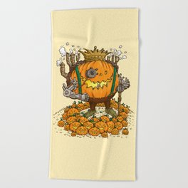 The Steampunk Pumpking Beach Towel