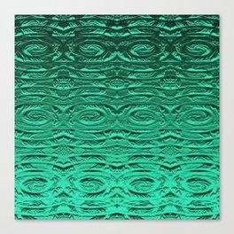 Tropical Green Terracotta Etching Canvas Print
