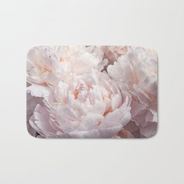 Floral Photography   Peony Pink Cluster   Flowers   Botanical   Plant Bath Mat