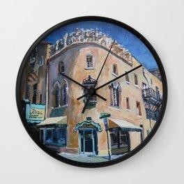 Lensic Theater and Burro, Santa Fe Wall Clock