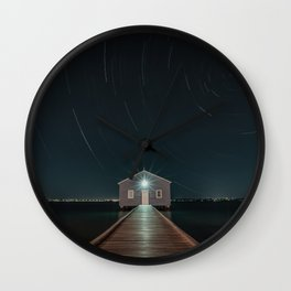 The Boat House Star Trail Wall Clock