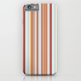 Combined Stripe Pattern - Clear Sailing Colorway iPhone Case