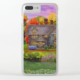 Autumn Home Landscape Clear iPhone Case