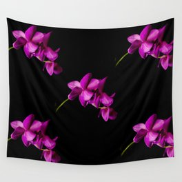 Dark Orchid Floral Wall Tapestry