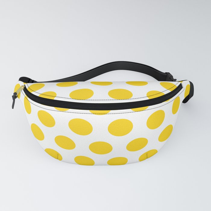 Yellow and White Polka Dots 771 Fanny Pack