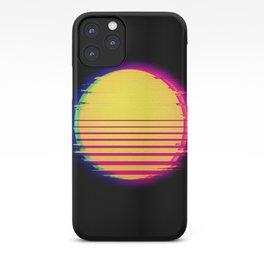Synthwave Sun Retro Glitch Vaporwave Aesthetic iPhone Case