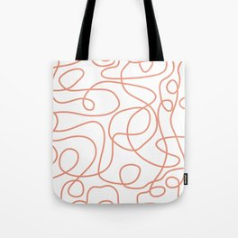Doodle Line Art | Coral Lines on White Background Tote Bag