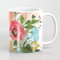 oana befort Mugs featuring BOUQUET by Oana Befort