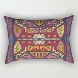 Golden Traveler (Red Aziki) Rectangular Pillow