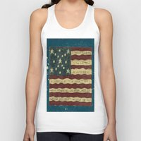 american flag Tank Tops featuring American Flag by Argi Univrs