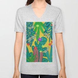 Fantasy Botanical #8 Unisex V-Neck