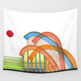 Symphony Pavilion for Outdoor Sounds 93 Wall Tapestry