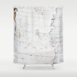 Birch bark pattern Shower Curtain