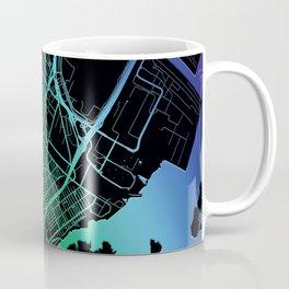 Elizabeth, NJ, USA, Rainbow, City, Map Coffee Mug