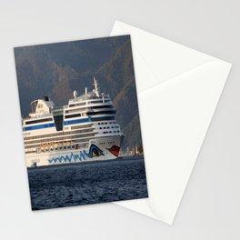Aida Stella Cruise Ship Leaving Marmaris Stationery Cards