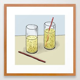 Vodka Lemonade Framed Art Print