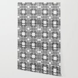 Azulejo in Black and White Wallpaper