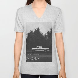 Pickup truck - Eugene - Oregon Unisex V-Neck