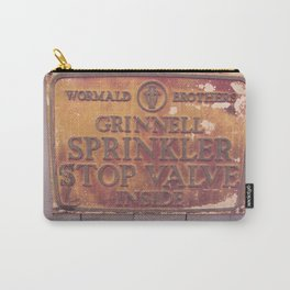 Sprinkler Stop Valve Sign Carry-All Pouch