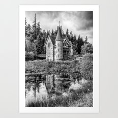 Adverikie Gatelodge black and white Art Print