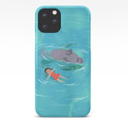 Manatee Playtime iPhone Case