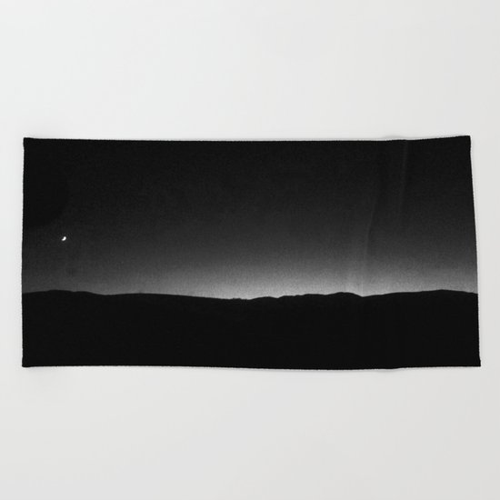 FRENCH LANDSCAPE AT NIGHT  Beach Towel