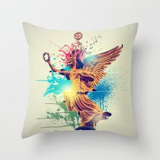 Siegessäule Abstract Throw Pillow
