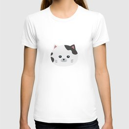 White Cat with spotted fur T-shirt