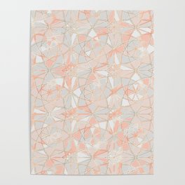 Pattern Rose Triangle Poster
