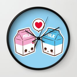 Milks in love Wall Clock