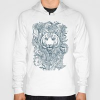 zentangle Hoodies featuring Tiger Tangle by micklyn