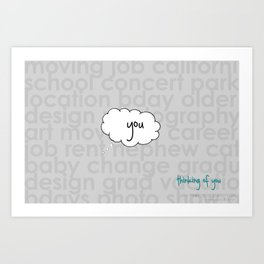 Always thinking... Art Print