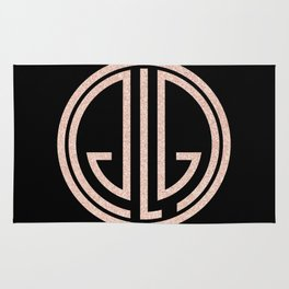 great Gatsby rose gold Rug