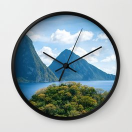 The Pitons, St. Lucia Wall Clock